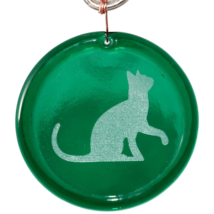 Sitting Cat Suncatcher Etched