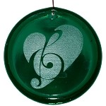 Music Clef Heart Suncatcher