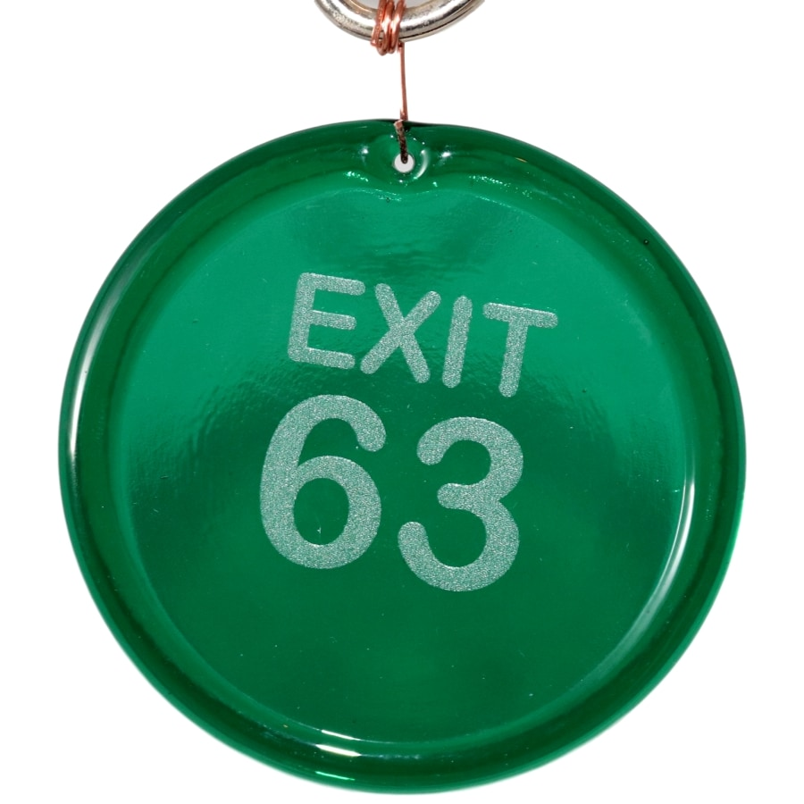 Exit 63 Suncatcher Etched