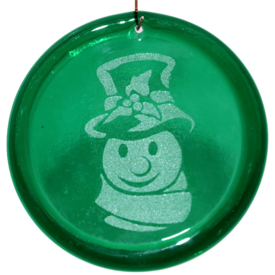 Frosty the Snowman Suncatcher Etched