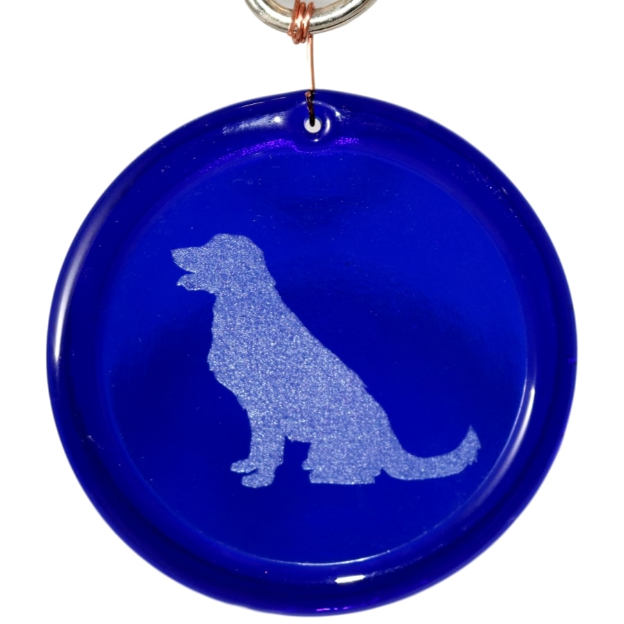 Golden Retriever Suncatcher Etched