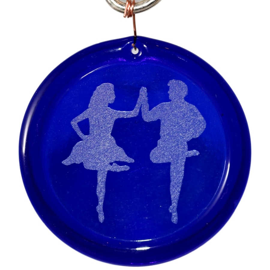 Irish Step Dancing Couple Suncatcher Etched