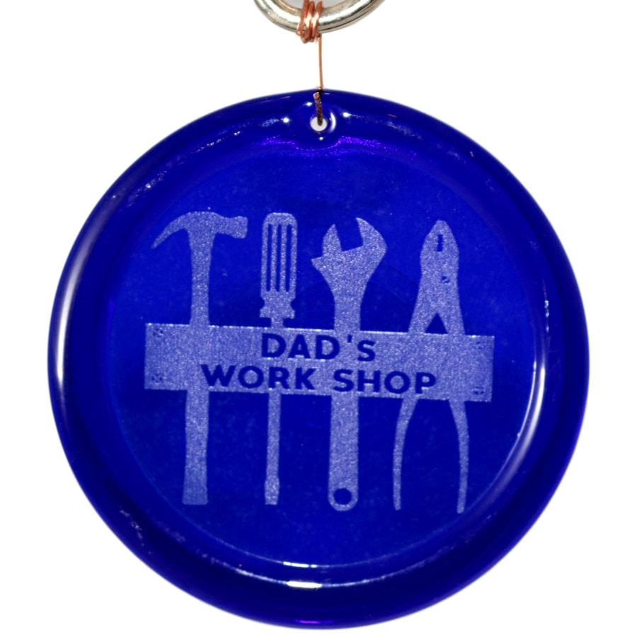 Megan Hardy Designs Dads Workshop Suncatcher Etched