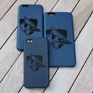 JHU Football Midnite Blue engraved phone case