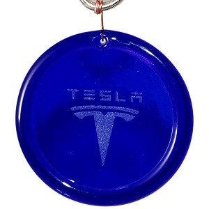 Etched Tesla Suncatcher